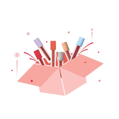 LIPS - BLACK ROUGE BIRTHDAY BOX